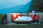 Pagarias por dormir al abierto? Miren la idea de esta linea de hoteles suizos...