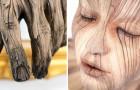 L'apice dell'inganno visivo: questo scultore riesce a trasformare l'argilla in legno