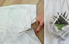 Turn an old t-shirt into a decorating idea - no sewing!