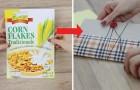 Come ottenere un delizioso quaderno riciclando la scatola dei cereali