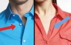 Perché le camicie da donna e quelle da uomo hanno i bottoni su lati opposti?