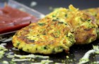 Tasty and easy to make zucchini pancakes!