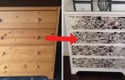 The result of this DIY project is a trendy chest of drawers!