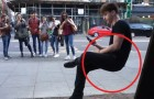 An invisible magic chair that seems SO real!