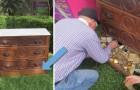Il achète un meuble au marché et il découvre une partie secrète : à son intérieur... un vrai trésor!