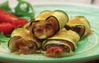 Rouleaux de courgettes avec fromage et jambon: s'arrêter au premier sera impossible!