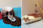 Een banketbakker maakt van gewoon gebak kunstwerken... in het klein