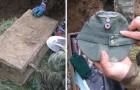 Il creuse un puits et trouve une petite boîte en métal: à l'intérieur un «trésor» de la Seconde Guerre mondiale