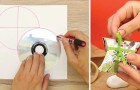Lär dig att göra en fin presentförpackning med bara en kartong och en CD