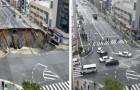L'efficienza dei giapponesi: la gigantesca voragine riparata in soli 2 GIORNI