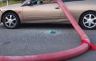 Somebody's car just got HOSED!