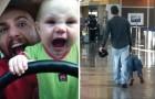 Quando papà e figli sono soli: ecco le esilaranti prove di ciò che possono combinare insieme!