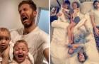 Un papa photographie sa vie quotidienne avec ses 4 filles: le résultat est irrésistible