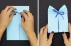 Voici comment créer un joli paquet cadeau avec une simple feuille de papier