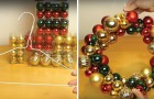 Make a beautiful Christmas Ball Wreath!