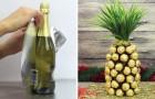 Wie man aus einer Flasche Champagner eine Schoko-Ananas herstellt...