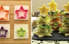 Delicious Christmas tree sandwiches!