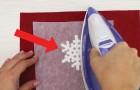 Fer à repasser et perles en plastique: le résultat est un flocon de neige parfait!