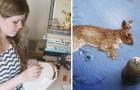 Elle apprend à broder toute seule : voici ses miniatures aux détails étonnants