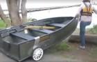 Questa barca si smonta in pochi minuti e può essere trasportata da QUALSIASI auto