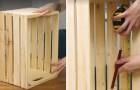 Von der Holzkiste zum Wohnzimmermöbel: Wenige Schritte mit denen ihr ein nützliches und schönes Objekt kriert