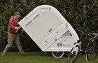 An innovative camper has made camping by bike trendy!