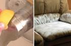 10 veloci trucchi per tenere perfettamente pulita la vostra casa, usando oggetti tra i più comuni!