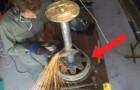 Quest'uomo ha trovato il modo migliore per riciclare il vecchio cerchione di un'auto: magnifico!