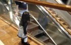 A very sociable girl at the mall