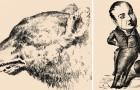 Vintage optische illusies : kan jij alle mensen vinden die verstopt zitten in deze tekeningen?