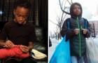 Questo 12enne realizza all'uncinetto centinaia di indumenti da donare ai senzatetto e agli ospedali