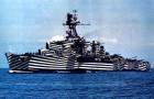 Slagschepen met zebrastrepen: camouflage die werd gebruikt in de Eerste Wereldoorlog om aan vijandelijke aanvallen te ontsnappen