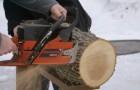 Holzkunst: seht was dieser Mann aus einem Stück vom Baumstamm herstellt