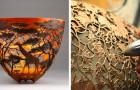 Een keniaanse kunstenaar snijdt prachtige scenes uit hout van bomen die door stormen zijn omgevallen