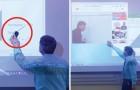 Ce professeur a utilisé le marqueur là où il ne devait PAS. Comment il résout le problème? Super!