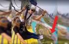 Fixam a cadeirinha e depois saltam de um arranha-céu: em Dubai é possível!
