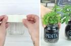 Comment créer un jardin maison d'herbes aromatiques en recyclant des bocaux en verre