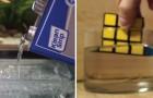 Immerge il cubo di Rubik nell'acetone: ecco di cosa è capace questo comune solvente