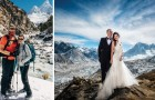3 settimane di scalata per sposarsi sull'Everest: le foto della romantica spedizione sono mozzafiato