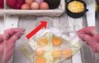 Uova in una busta ermetica: ecco l'omelette più veloce e gustosa che ci sia!