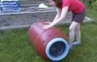 Aqui una idea para realizar una compostera economica y comoda para el jardin