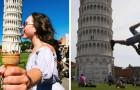 Wie foto's van de toren van Pisa saai vindt heeft deze nog niet gezien
