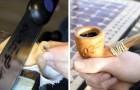 Quest'uomo ha costruito con le sue mani la pipa del Signore degli Anelli... Wow!