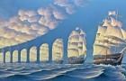 Le illusioni ottiche in questi quadri vi faranno volare con l'immaginazione