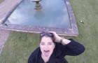 Vuole a tutti i costi essere ripresa dal drone: poco dopo la ragazza non riesce a smettere di ridere