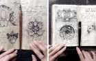 Quest'artista russa rivela al mondo il suo misterioso quaderno: è pieno di tecniche di disegno dimenticate