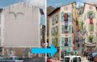 Deze kunstenaar transformeert anonieme voorgevels van gebouwen in bruisende en levensechte fresco's!