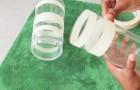 Inizia applicando il nastro adesivo: ciò che ottiene dà un tocco di glamour alla stanza