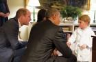 Prins William gebruikt de techniek van actief luisteren met zijn zoon: hij knielt neer om met hem te praten
