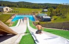 Diving into the pool with the Superslide